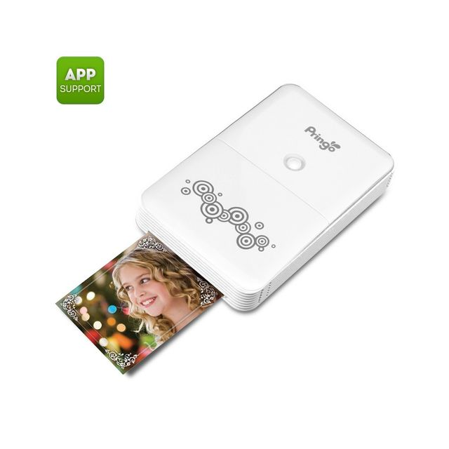 Auto-hightech Imprimante portable Smartphone Wi-Fi Photos 2,1 x 3,4 pouces Photos, application Android