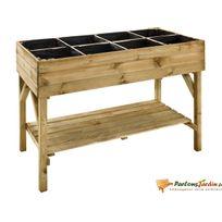 JARDIPOLYS - Carré de potager en bois surélevé Gariguette