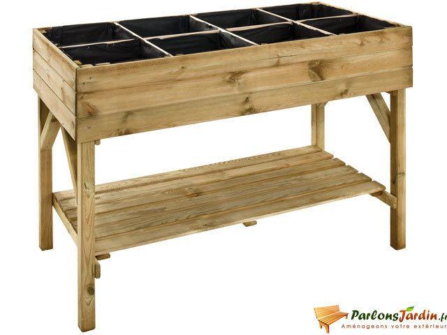 jardipolys carr de potager en bois sur lev gariguette. Black Bedroom Furniture Sets. Home Design Ideas
