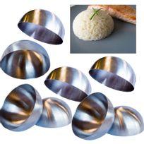 Touslescadeaux - 8 Dômes de Présentation En Inox - présentation entrée, plat et dessert