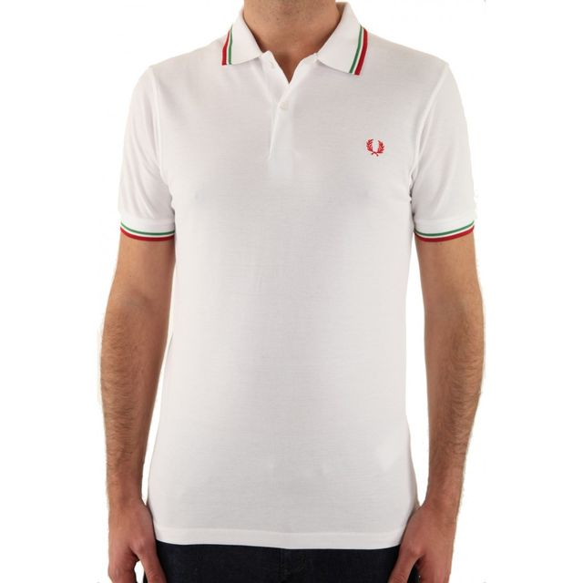 Polo Fred Perry Slim Fit M3600 183 Blanc