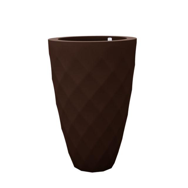 Vondom Pot de fleurs Vases - grand modèle - Ø 65 x 100 cm - Système d'arrosage - bronze