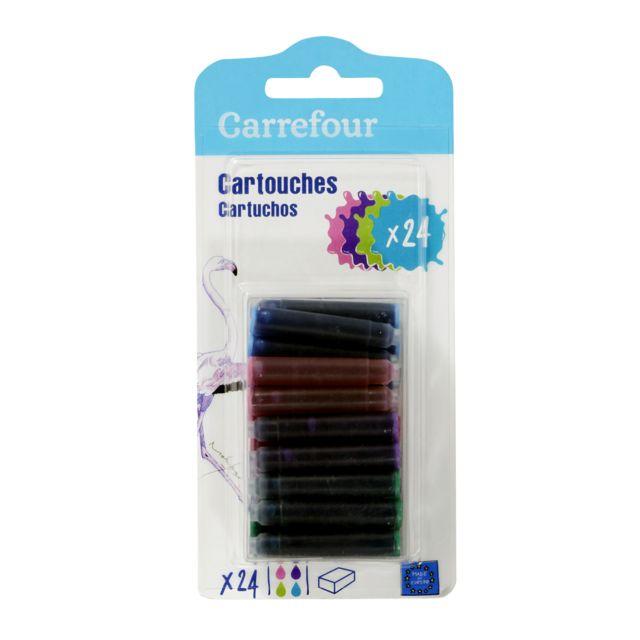 CARREFOUR Lot de 24 cartouches - Différents coloris