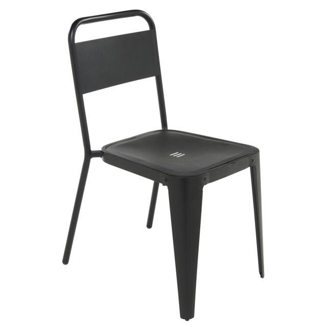 carrefour chaise de jardin indus acier noir pas. Black Bedroom Furniture Sets. Home Design Ideas