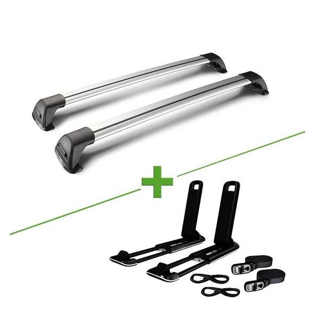 24e0e08565d299 Whispbar - Pack barres et porte kayak Flushbar + J Craddle pour Subaru  Outback 5 portes - pas cher Achat   Vente Barres de toit - RueDuCommerce
