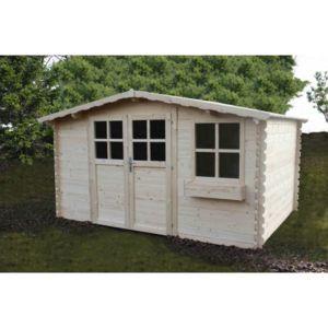 jardin express abri de jardin en bois 4x3 m 11 4 m avec jardiniere pas cher achat vente. Black Bedroom Furniture Sets. Home Design Ideas