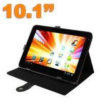 Yonis - Housse tablette 10.1 pouces protection universelle simili cuir Noir