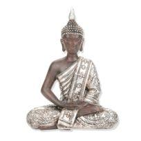 Atmosphera - Statuette Bouddha - H. 28 cm - Argent