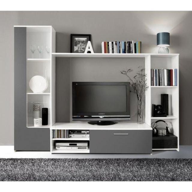 Finlandek Salon Finlandek Meuble Tv Mural Pilvi 220cm Blanc Et