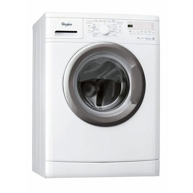 whirlpool lave linge frontal 9kg a 1200trs min tambour 59l 6 me sens machine laver hublot. Black Bedroom Furniture Sets. Home Design Ideas