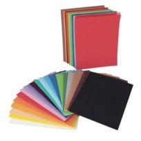 Oz International - sachet de 60 plaques de caoutchouc, format a5, couleurs assorties