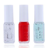 Essie - Mini Kit Routine - First Base Base Coat + Vernis Fifth Avenue + Good To Go Top Coat - 15ml