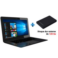 THOMSON - 14,1'' - Intel Atom x5-Z8350 - eMMC 32 Go - RAM 2 Go - Intel HD Graphics - Windows 10 + Disque dur externe 120 Go Noir