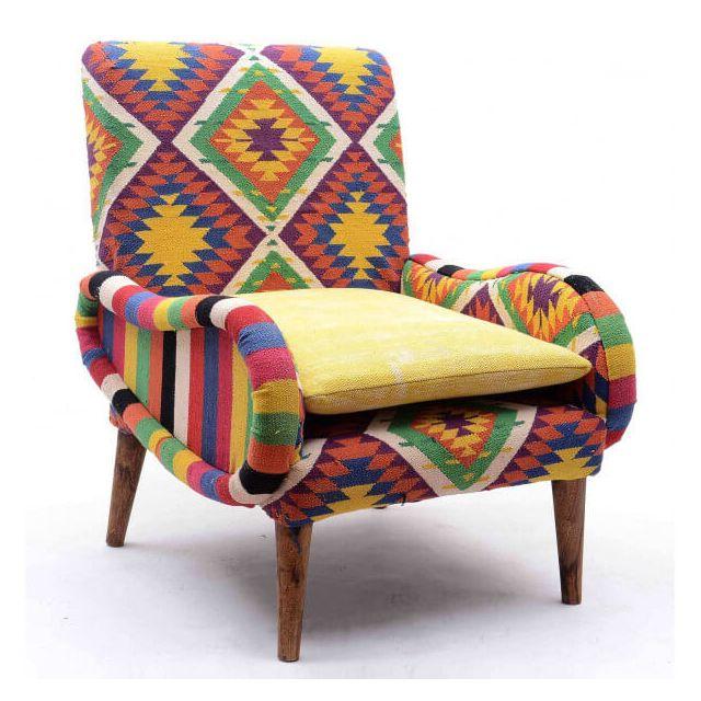 Mathi Design Tircan - Fauteuil Kilim coloré