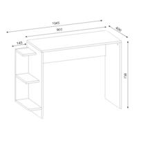 bureau 40 cm profondeur achat bureau 40 cm profondeur pas cher rue du commerce. Black Bedroom Furniture Sets. Home Design Ideas