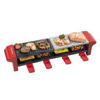 Bestron - Appareil à raclette, grill et pierre à griller 3 en 1 - 4 personnes