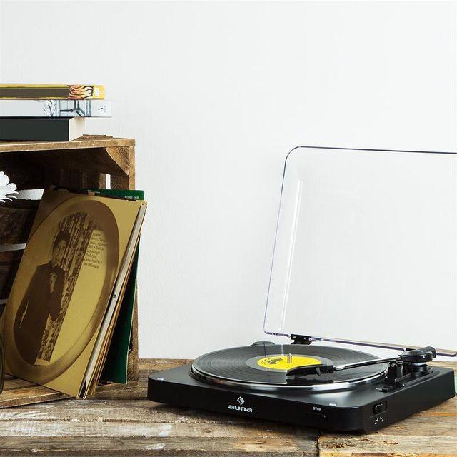 AUNA - TT-30 BT Platine vinyle Tourne-disque Bluetooth Line-Out adaptateur RCA USB