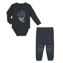 d30e5b6eb651d Petit Beguin - Ensemble bébé garçon body T-shirt + pantalon Cool Planet -  Taille