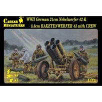 Caesar Miniatures - Maquette accessoires militaire : Miliatires allemand + Lance roquettes