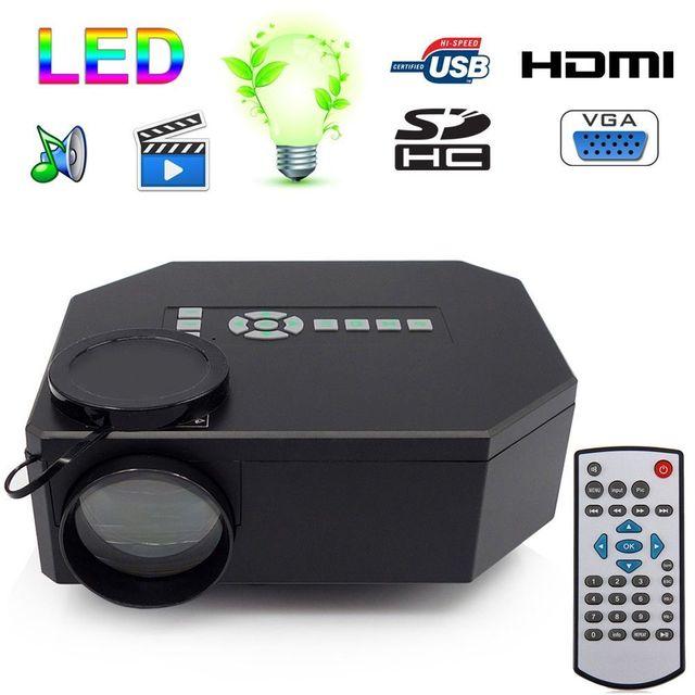 Yonis Mini projecteur portable Full Hd 1080p home cinéma Tv films jeux vidéo