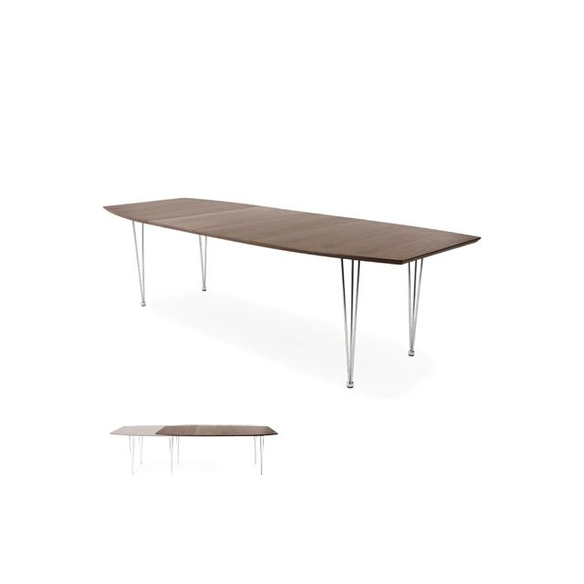 Table à diner design 100x170x74cm Extensi