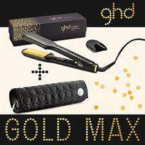Ghd - Fer à lisser lisseur styler Max Gold plaque large + pochette ronde modèle