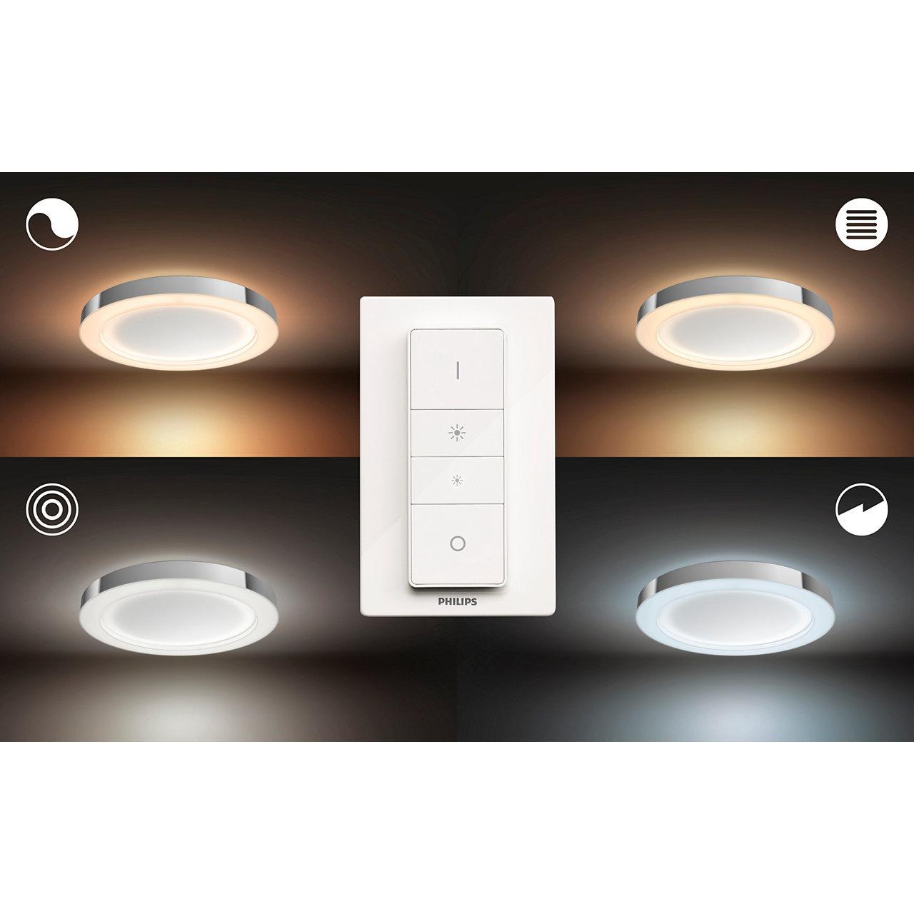 White Ambiance ADORE Applique miroir salle de bain 40W - Blanc (télécommande incluse)