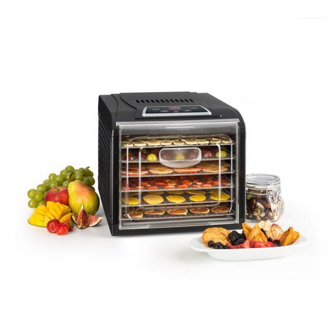KLARSTEIN Fruit Jerky Plus 6 Déshydrateur Minuteur 6 étages Plaque métallique 420-500W - noir