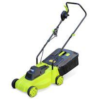 ALICE'S GARDEN - Tondeuse à gazon électrique 1300W VOLTR, récupérateur d'herbe 30L, diamètre de coupe 32cm, compacte et maniable
