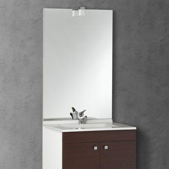 CREAZUR Miroir avec applique MIRCOLINE - 60 cm + applique