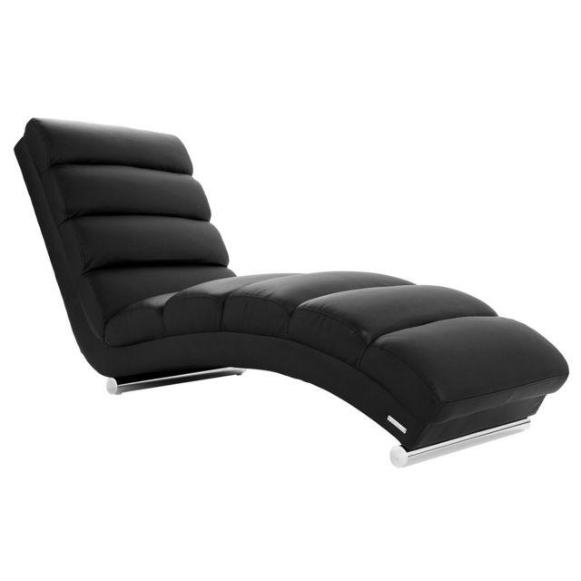 miliboo chaise longue fauteuil design noir taylor nc nc - Fauteuil Chaise Longue