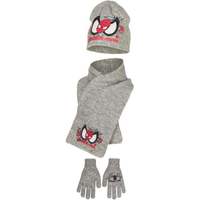 b6bfdebc1451 Marque Generique - Echarpe gant bonnet enfant Spiderman gris 54 TU ...