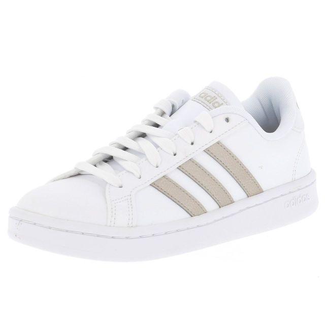 Adidas Chaussures basses cuir ou simili Grand court w