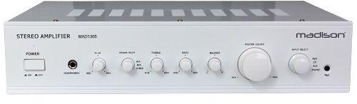 Madison Amplificateur hi-fi stéréo blanc