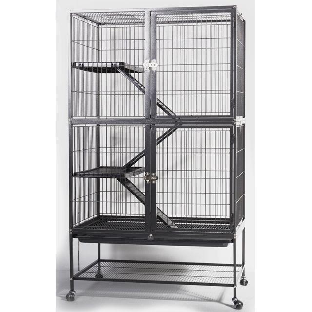les animaux de la fee cage oiseaux rongeurs loft house pas cher achat vente cage pour. Black Bedroom Furniture Sets. Home Design Ideas