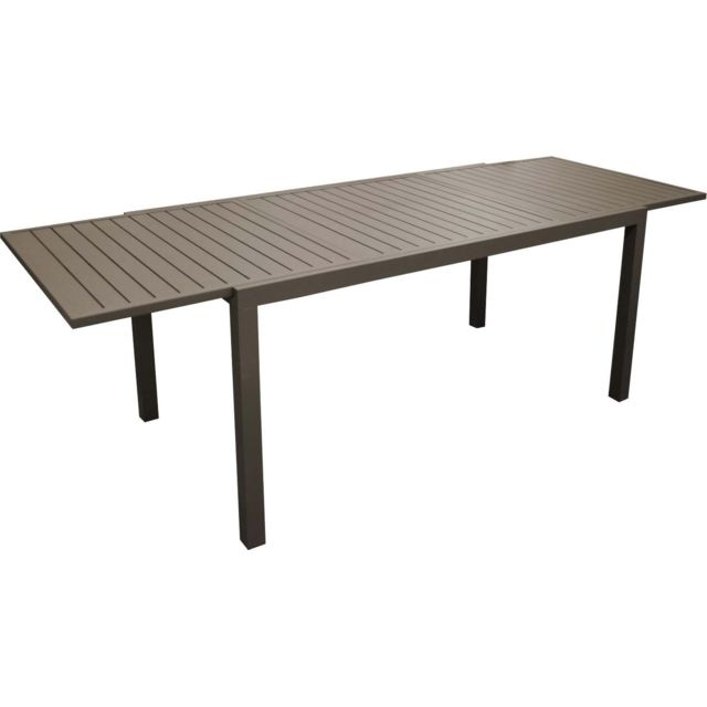 Table en aluminium avec allonge Solem 268 cm