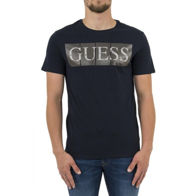 0aed274133c438 Guess - Tee shirt jeans m83i04 bleu - pas cher Achat   Vente Tee ...