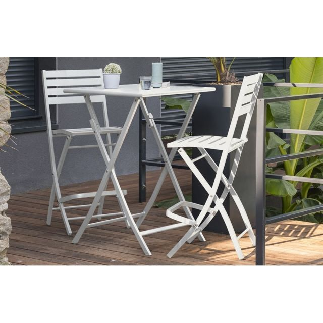 DCB GARDEN Table haute de bar GRIS
