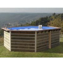 water clip piscine bois hexagonale 510 x 320 x 1 - Piscine Hors Sol Composite