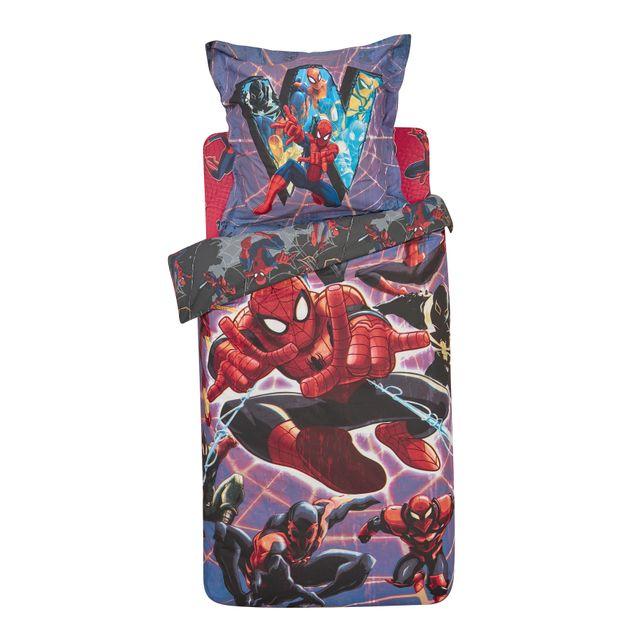 drap housse spiderman pas cher MARVEL   Drap housse SPIDERMAN bleu   90cm x 190cm   pas cher  drap housse spiderman pas cher