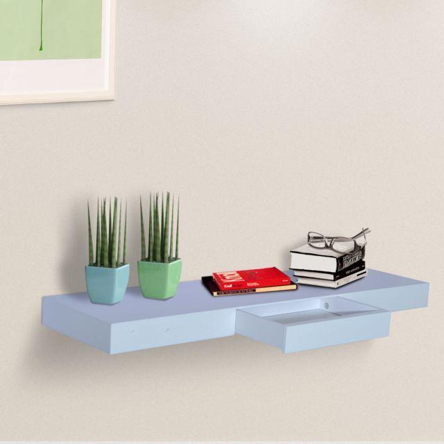 homcom etag re murale flottante avec tiroir design contemporain kit de fixation complet fourni. Black Bedroom Furniture Sets. Home Design Ideas