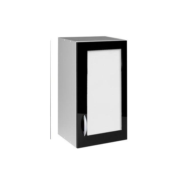 Meublesline meuble haut de cuisine 40 cm 1 porte vitr e Porte de cuisine vitree