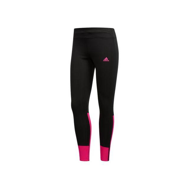 Adidas - Collant long adidas Response à lacet noir rose fuschia pour femme 118004e9795