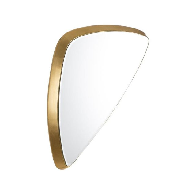 Tousmesmeubles Miroir triangle Bois doré taille S N°2 - Bebop