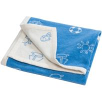 Hippychick - Blc32516/1515 - Couverture Bambin - Bleu Azur - 100 X 150 Cm