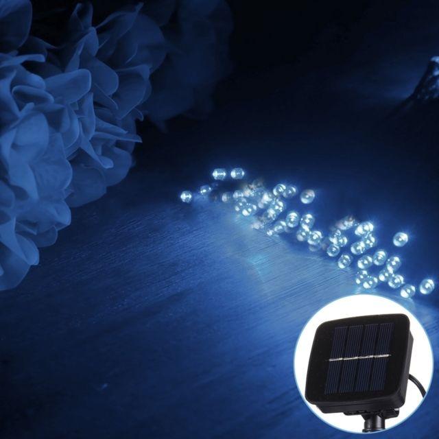 Wewoo Guirlande 10m 800-1200LM panneau solaire 100 Led Festival Fairy String Lights avec 1.9m câble prolongé lumière blanche