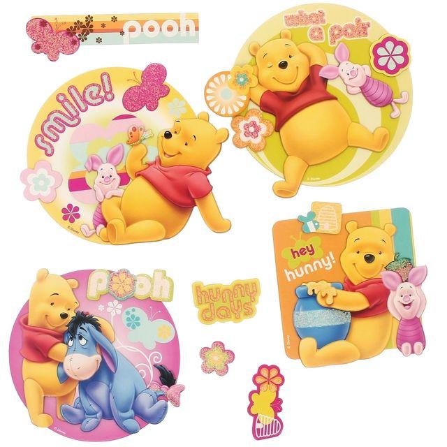 Disney lot 8 stickers licence winnie l 39 ourson dsiney 3d - Chambre winnie l ourson pas cher ...