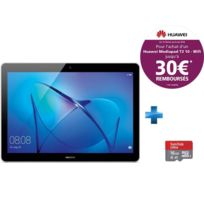 HUAWEI - MediaPad T3 10 - 9.6'' HD IPS - 16 Go - Gris + Carte micro SD Ultra 16 Go100MB/s C10 UHS U1 A1 Card+Adaptateur