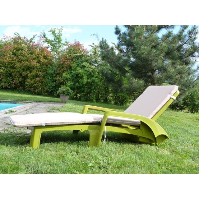 jardins d 39 hiver matelas grand confort pour bain de soleil 195 x 56 x 5 cm gris clair pas. Black Bedroom Furniture Sets. Home Design Ideas