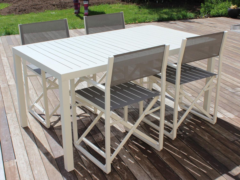 RESIDENCE - Salon de jardin table rectangulaire avec lattes ...